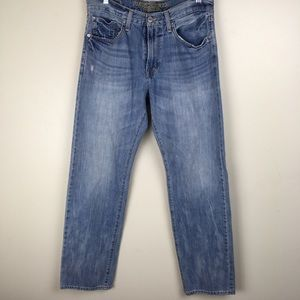 American Eagle 32x34 Distressed Straight Jeans